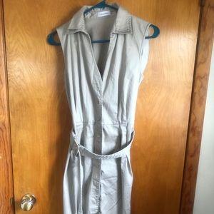 Calvin Klein Button down khaki dress. (6)